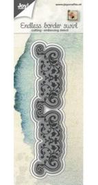 Snij-embosstencil - Rand eindeloos met swirls 6002/0650