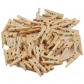 50 st houten wasknijpertjes 2,5 cm 1021192
