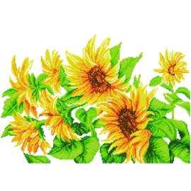 DD10.023  Hazy Daze Sunflowers 57x41cm  NIEUW!!!!!