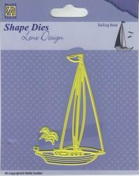 "SDL039 Lene Design Men Things  ""Sailingboat"" 58x90mm"