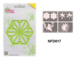 "NFD017 Nellie's Folding Die Kerstbal ""medium ster"""