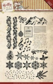 clear stamp holly jolly christmas afbeeldingen yccs10025