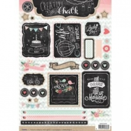 Creative with chalk die-cut embellishments - EASYCH459