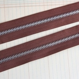 Zipper Trim earth brown  1 Meter ritsband  [002986/1703]