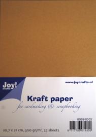 kraft papier 29.7x21cm 300gr. 25 vel 8089/0203