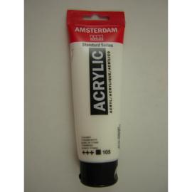 Amsterdam acrylverf tube 120ml titaanwit 105