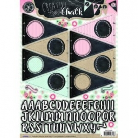 Creative with chalk die-cut embellishments - EASYCH466