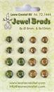 Jewel brads moss green/light gold  72.144