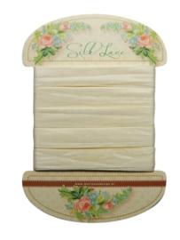 1 ST (1 ST) Decoration Silk lace Off white - JU0915 (NEW FEBR)