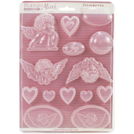 Stamperia Soft Maxi Moulds Angels & Hearts (K3PTA431)