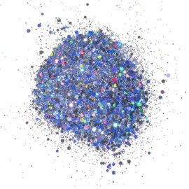 Cosmic Shimmer Holographic Glitterbitz Midnight Marine