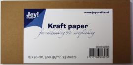 kraft papier 15x30.5cm 300gr.  25 vel 8089/0206