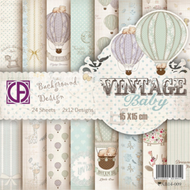 Vintage baby 15x15cm 2x12 designs 24 vel  CAB14-009