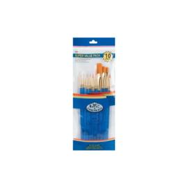 Royal & Langnickel gold taklon brush set   10 stuks  270926 SVP1