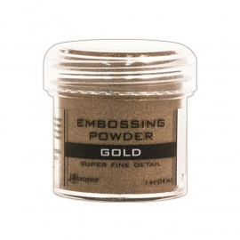 embossing powder  ranger  gold