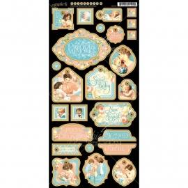 """Precious Memories Chipboard Die-Cuts 6""""X12""""  Sheet Decorative G4501095"""