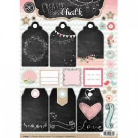 Creative with chalk die-cut embellishments - EASYCH465