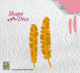 Shape Dies  Feathers SD124