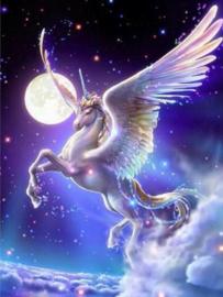 Unicorn moon 40 x 50 HLQ-01798 ronde steentjes
