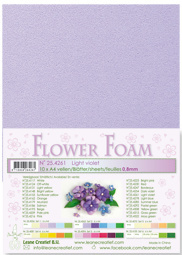 flower foam A4 Pale ligt violet 25.4261