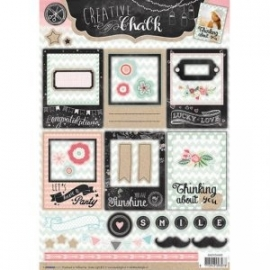 Creative with chalk die-cut embellishments - EASYCH463