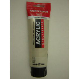 Amsterdam acrylverf  Metallic tube 120ml zilver 800