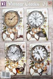 Vintage Clocks 01 RE2530-0100  NIEUW!!!!