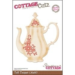 "CottageCutz Die 4""X6"" Tall Teapot Made Easy 4x6061"