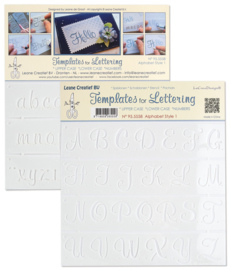 Templates voor handlettering  Alphabet style 1 *upper case*lower case*numbers 95.5558  NIEUW!!!!!