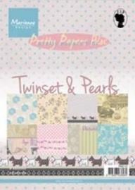 juli  Pretty Papers bloc - Twinsets & Pearls  PK9110