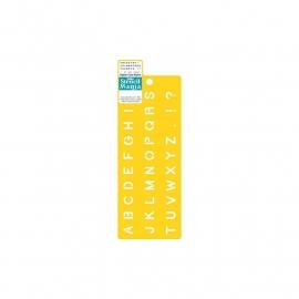 "Stencil Mania Stencil 3""X8.5"" Upper case Alpha 979610308"