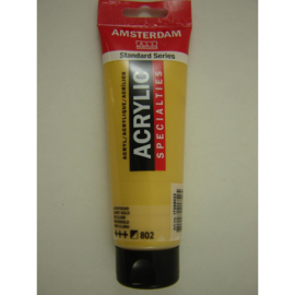 Amsterdam acrylverf Metallic tube 120ml lichtgoud 802