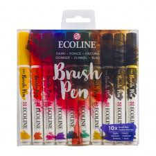 ecoline brush pen Dark set van 10 11509802
