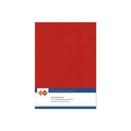 Card deco linnen papier 14,8x21cm kerst rood LKK-A534