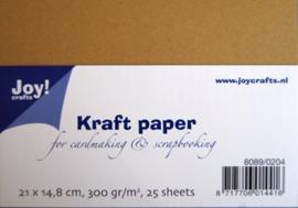 kraft papier 21x14.89cm 300gr.25vel  8089/0204