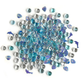 Buttons Galore Shimmerz Embellishments 18g Dolphins tale