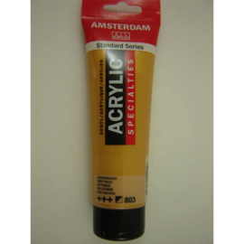 Amsterdam acrylverf Metallic tube 120ml donkergoud 803