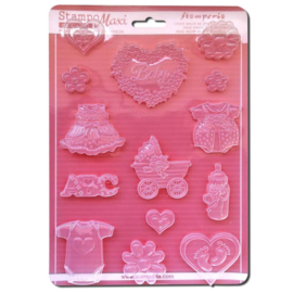 Stamperia Soft maxi Mould Baby Classic (K3PTA441)