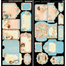 "Precious Memories Cardstock Die-Cuts 6""X12"" sheet 2vel Tags & Pockets G4501094"