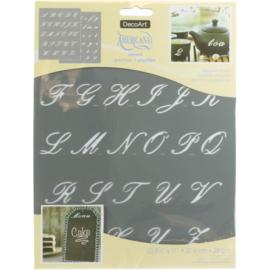 "Americana Alphabet Stencils 8.5""X11"" Elegant Script, 2 Sheets/Pkg391975 ASC03"