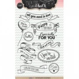 Creative with chalk clear stamps - STAMPCH102