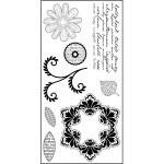 Darcie's clear stamps Fleurs Abondante POL52 10x20cm 8 stempels  AKTIE!!!!!