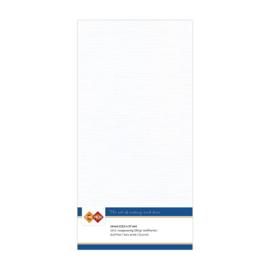 Card Deco linnen papier 13,5x27cm wit LKK-4K01 10vel