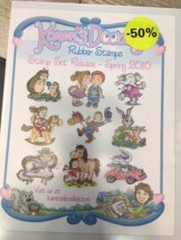 Karen doodles stamp set release spring 2010  9 stempels AKTIE!!!!!