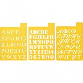"""Stencil Mania Stencils 7""""X10"""" 3/Pkg Fonts 972150056"""