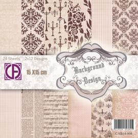 background design 15x15cm 2x12 designs 24 vel CAB14-008