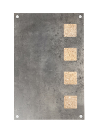 Securit® Living Wall. Cork board with writing surface, Grey. 58x38x1.3cm  8200/0203