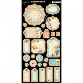 "Precious Memories Chipboard Die-Cuts 6""X12"" Sheet Journaling G4501096"