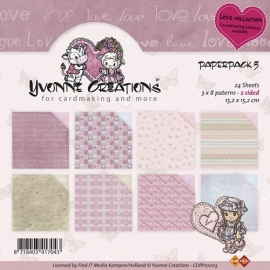 Yvonne Creations Paperpack 5  Love Collection - CDPP10003
