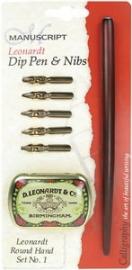 kalligrafie set Dip pen en Nibs round hand set no.1  MDP2026